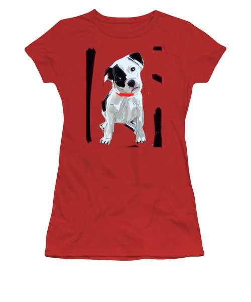 Dog Doggie Red Women's T-Shirt (Athletic Fit)