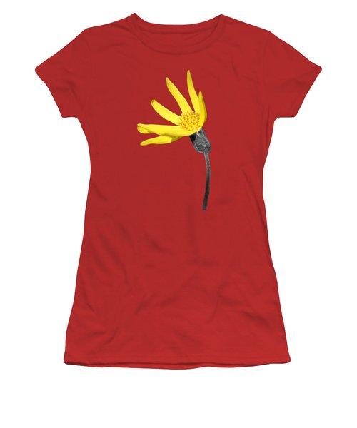 Women's T-Shirt (Junior Cut) featuring the photograph Yellow Wildflower by Shane Bechler