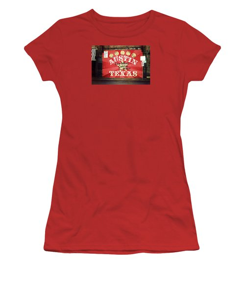 Austin Live Music Women's T-Shirt (Junior Cut) by Trish Mistric