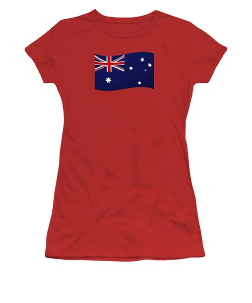 Australian Flag Waving Png By Kaye Menner Women's T-Shirt (Athletic Fit)