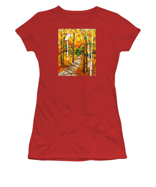 Autumn Forest Trail Women's T-Shirt (Junior Cut)