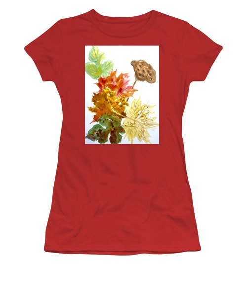Autumn Leaves Still Life Women's T-Shirt (Athletic Fit)