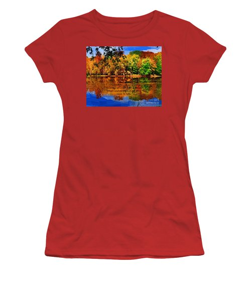 Autumn Serenity Philanthropy Painted Women's T-Shirt (Junior Cut) by Diane E Berry