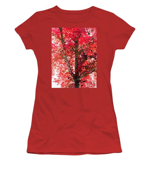 Women's T-Shirt (Junior Cut) featuring the photograph Autumn Tree by Michael Dohnalek
