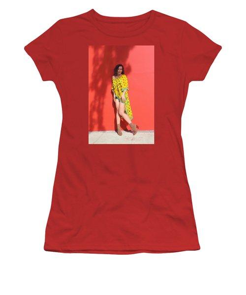 Ava Milva Standing Women's T-Shirt (Junior Cut) by Viktor Savchenko