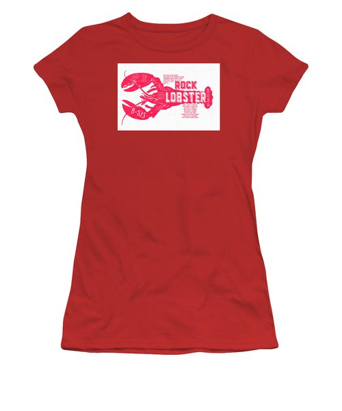 B-52s Rock Lobster Lyric Poster Women's T-Shirt (Athletic Fit)