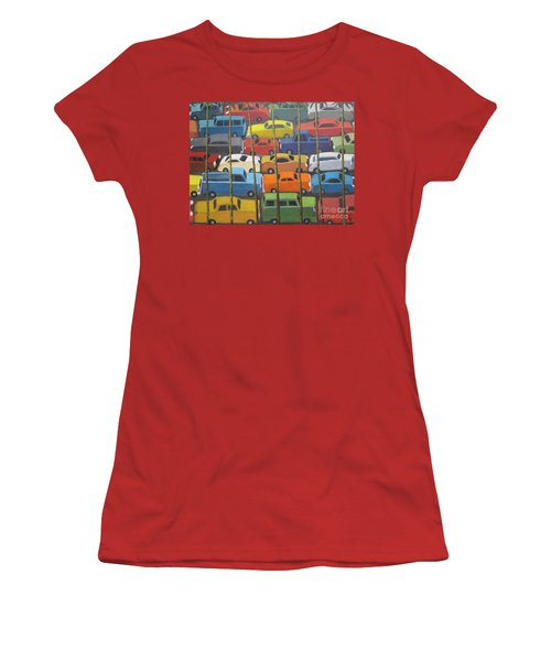Women's T-Shirt (Junior Cut) featuring the painting Back And Forth by Glenn Quist
