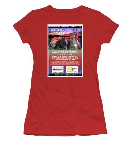Backcountry Horsemen Join Us Poster II Women's T-Shirt (Athletic Fit)