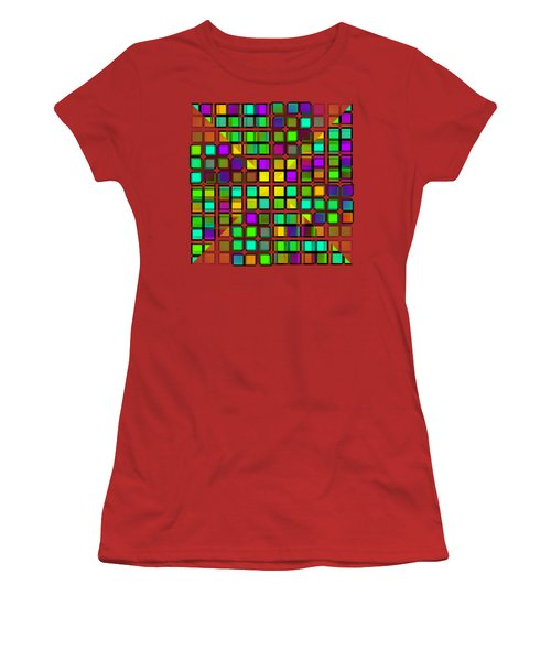 Colour Choice Squares 2 Women's T-Shirt (Athletic Fit)