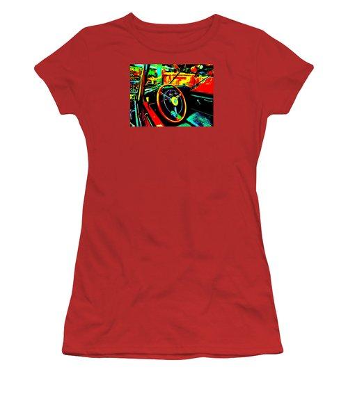 Bahre Car Show II 30 Women's T-Shirt (Junior Cut) by George Ramos