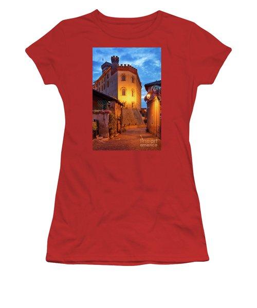 Women's T-Shirt (Junior Cut) featuring the photograph Barolo Morning by Brian Jannsen