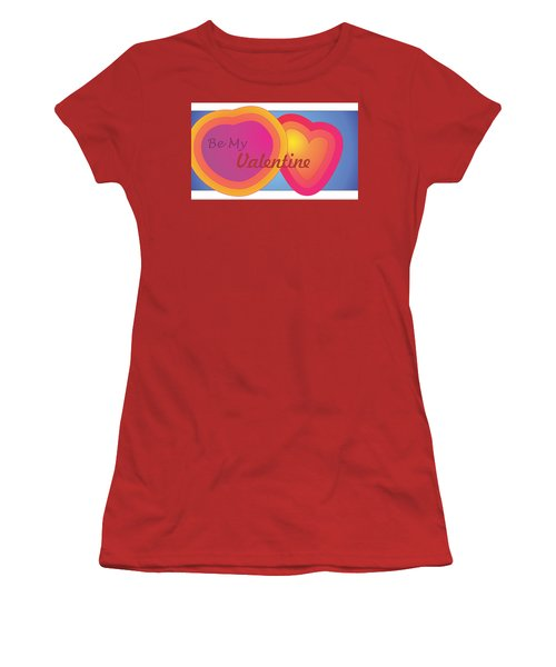 Be My Valentine Card Women's T-Shirt (Athletic Fit)