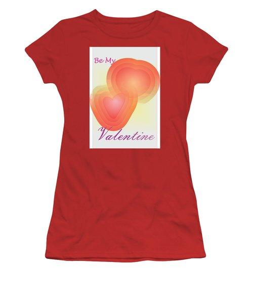 Women's T-Shirt (Junior Cut) featuring the digital art Be My Valentine by Sherril Porter