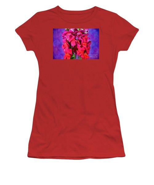 Beautiful Snapdragon Flowers Women's T-Shirt (Junior Cut) by Ray Shrewsberry
