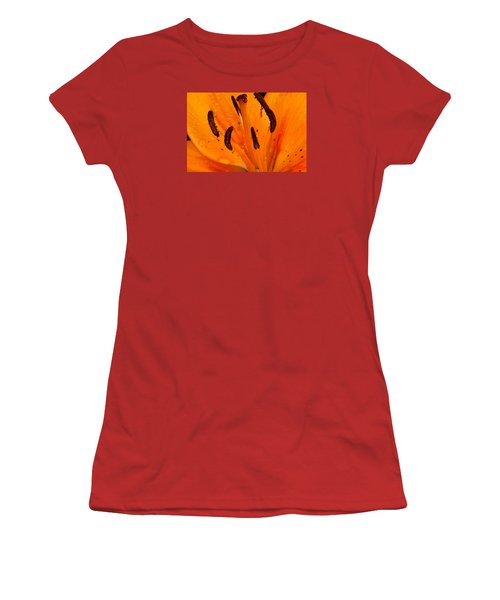 Bedraggled Beauty In Orange Women's T-Shirt (Athletic Fit)