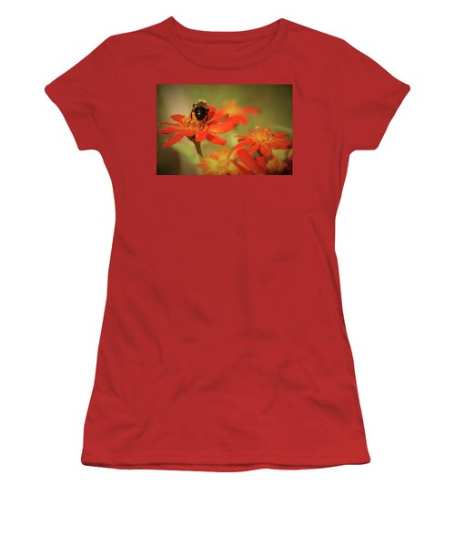 Bee And Flower IIi Women's T-Shirt (Athletic Fit)