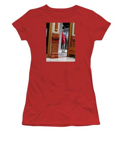 Behind Doors Women's T-Shirt (Junior Cut) by Anna Yurasovsky