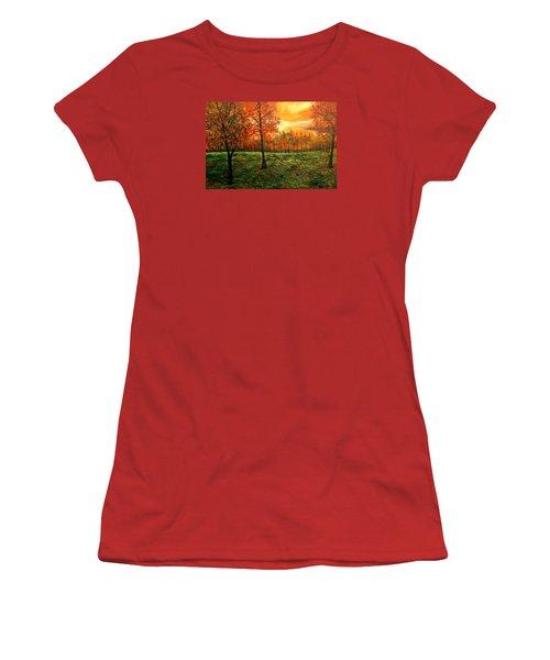 Being Thankful Women's T-Shirt (Junior Cut) by Lisa Aerts