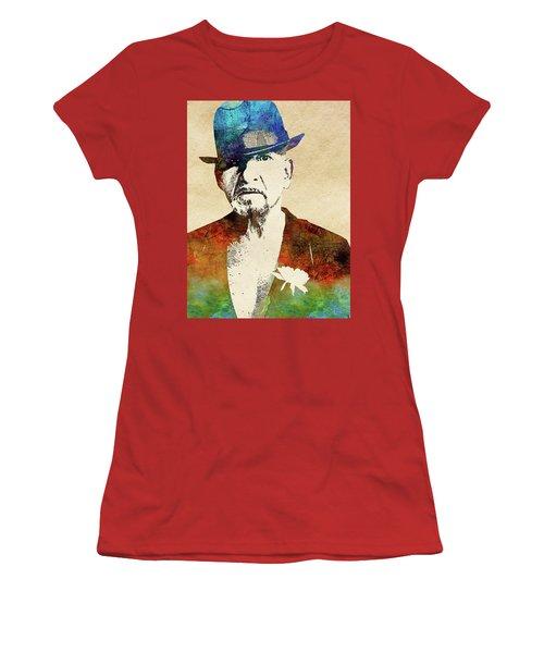 Ben Kingsley Women's T-Shirt (Junior Cut) by Mihaela Pater