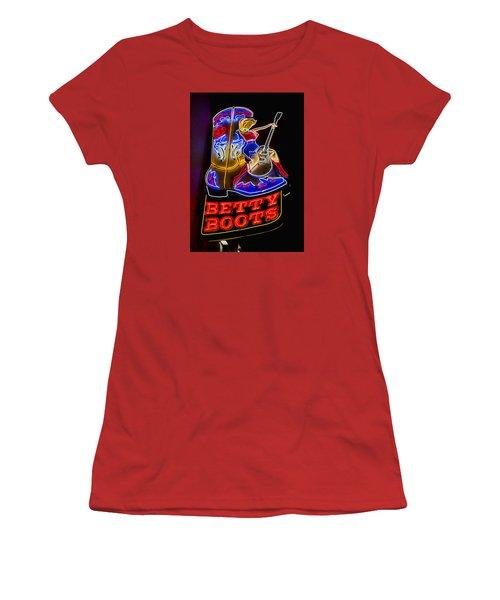 Betty Boots Women's T-Shirt (Junior Cut) by Stephen Stookey