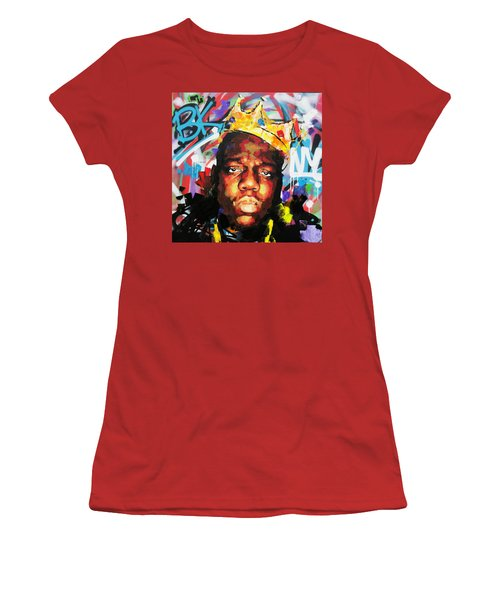 Women's T-Shirt (Junior Cut) featuring the painting Biggy Smalls IIi by Richard Day