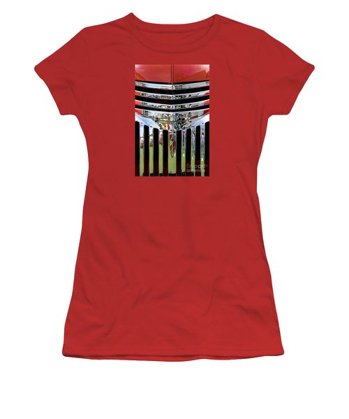Chevrolet Grille 04 Women's T-Shirt (Junior Cut) by Rick Piper Photography
