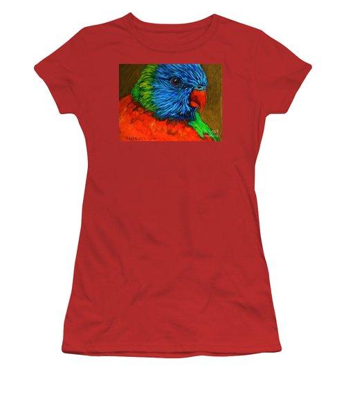 Birdie Birdie Women's T-Shirt (Junior Cut) by Alison Caltrider