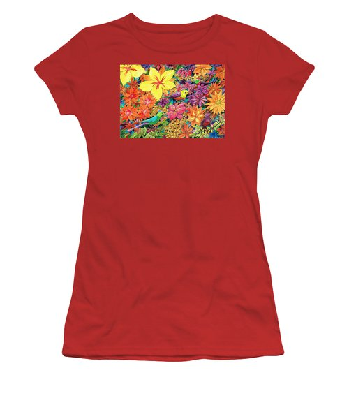 Birds In Paradise Women's T-Shirt (Junior Cut) by Charles Cater