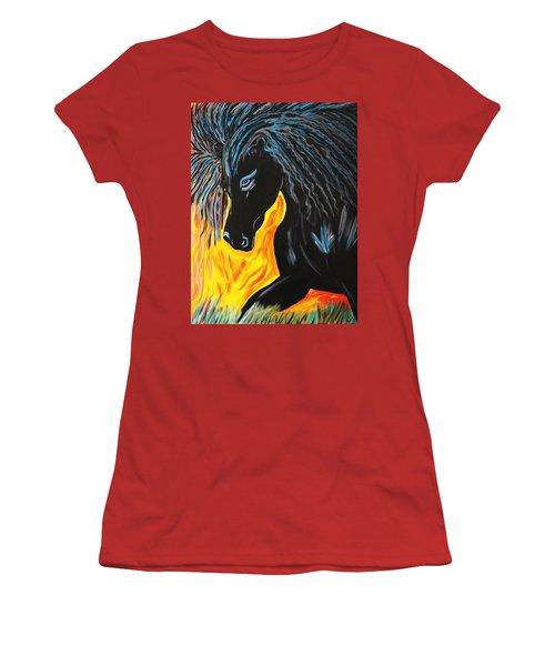 Black Beauty Women's T-Shirt (Athletic Fit)