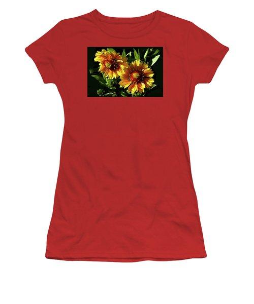 Blanket Flowers - Gaillardia Women's T-Shirt (Athletic Fit)