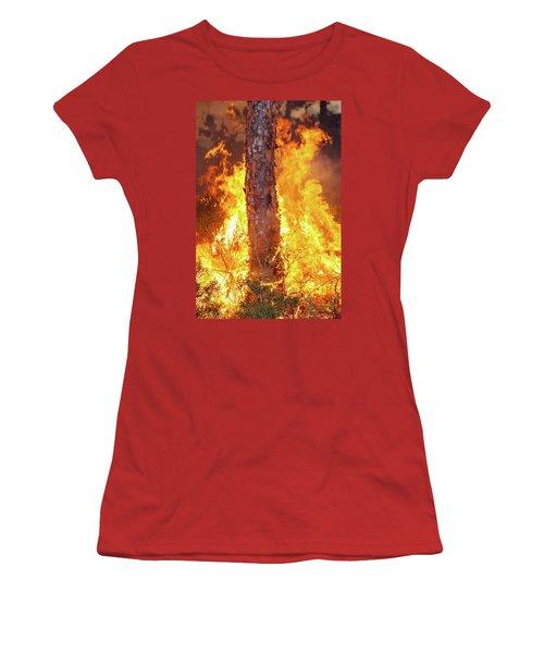 Blazing Pine Women's T-Shirt (Athletic Fit)