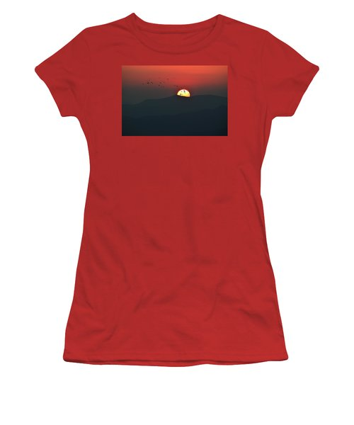 Blue Ridge Sunset Women's T-Shirt (Athletic Fit)
