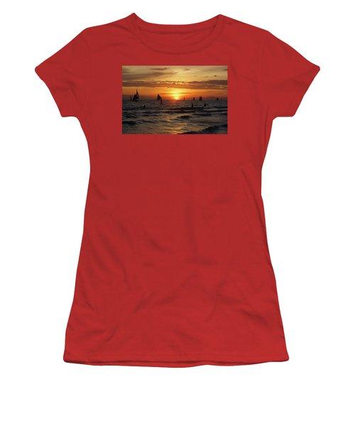Boracay Sunset Women's T-Shirt (Athletic Fit)