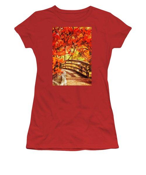 Bridge Of Fall Women's T-Shirt (Junior Cut) by Kristal Kraft