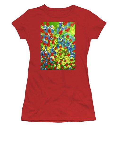Brilliant Florals Women's T-Shirt (Athletic Fit)