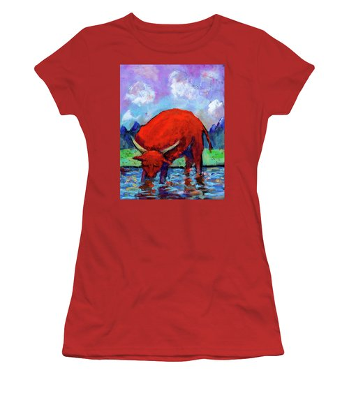 Bull On The River Women's T-Shirt (Athletic Fit)