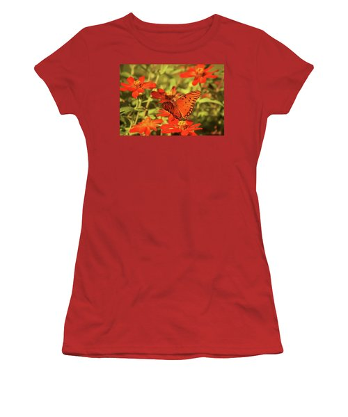 Butterfly And Flower II Women's T-Shirt (Athletic Fit)