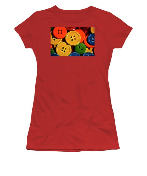 Women's T-Shirt (Junior Cut) featuring the photograph Buttons by Linda Blair