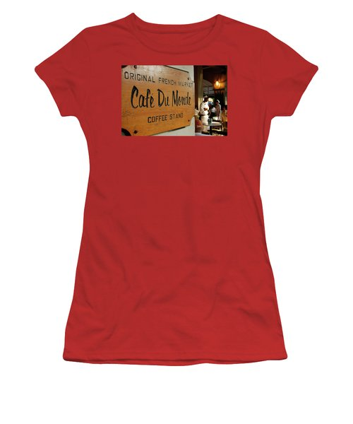 Women's T-Shirt (Junior Cut) featuring the photograph Cafe Du Monde by KG Thienemann