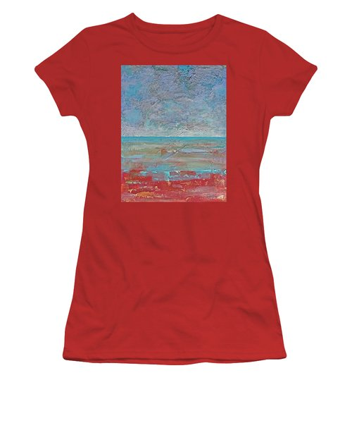 Women's T-Shirt (Junior Cut) featuring the painting Calm Before The Storm by Walter Fahmy