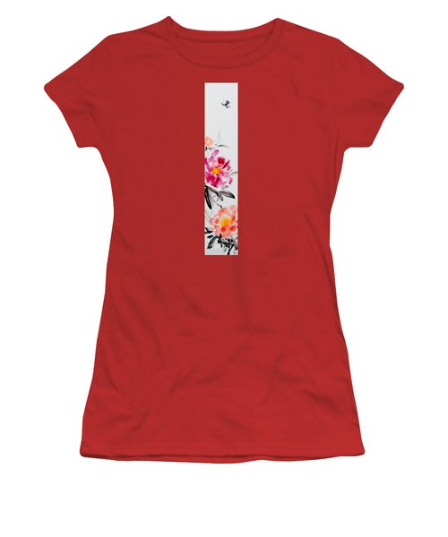 Camellia And Butterfly Women's T-Shirt (Athletic Fit)