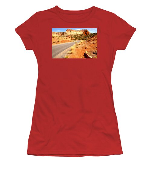 Women's T-Shirt (Junior Cut) featuring the photograph Capitol Curves Ahead by Adam Jewell