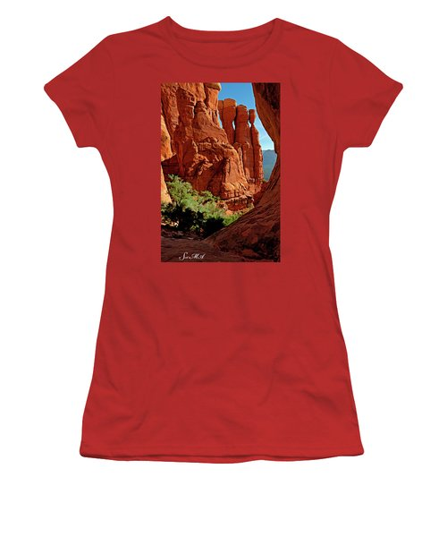 Cathedral Rock 06-124 Women's T-Shirt (Athletic Fit)