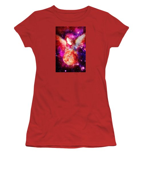 Celestial Beings Of Light Women's T-Shirt (Athletic Fit)