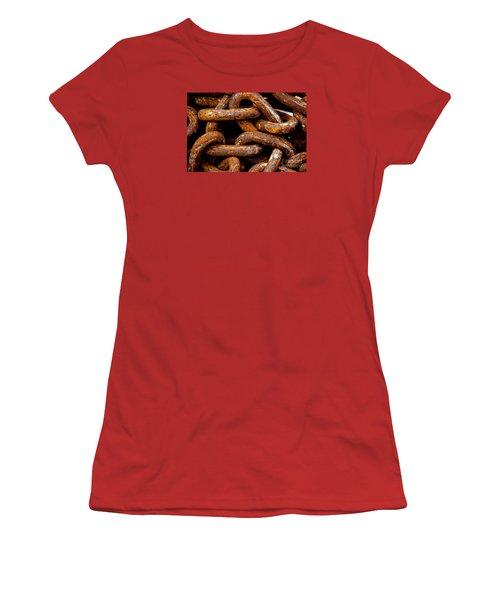 Women's T-Shirt (Junior Cut) featuring the photograph Chains  by Gary Bridger