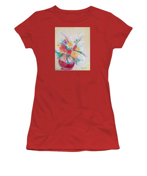 Cheerful Flower Arrangement Women's T-Shirt (Junior Cut) by Roxy Rich