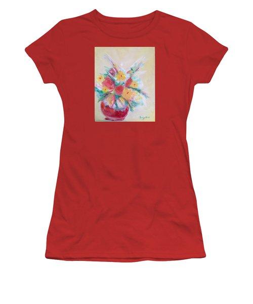 Cheerful Flower Arrangement Women's T-Shirt (Athletic Fit)