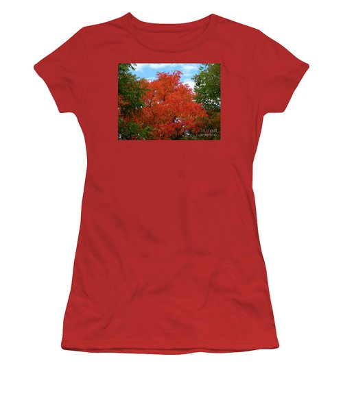 Chinese Pistache Fall Color Women's T-Shirt (Athletic Fit)