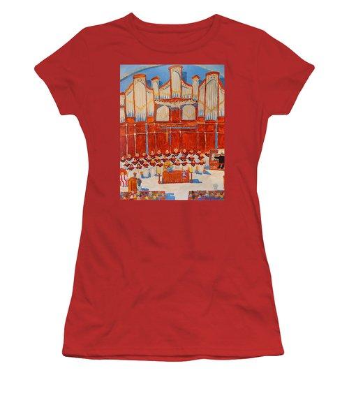 Choir And Organ Women's T-Shirt (Junior Cut) by Rodger Ellingson