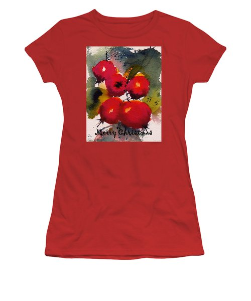 Christmas Berries Women's T-Shirt (Athletic Fit)